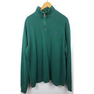 Polo Ralph Lauren Quarter Zip Green Pullover XL